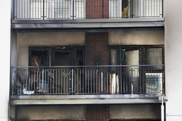 Belfast apartment block fire