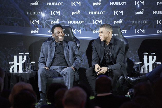 Pelé et Kylian Mbappé - Paris