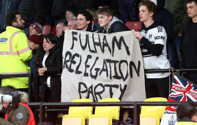 Watford v Fulham - Premier League - Vicarage Road