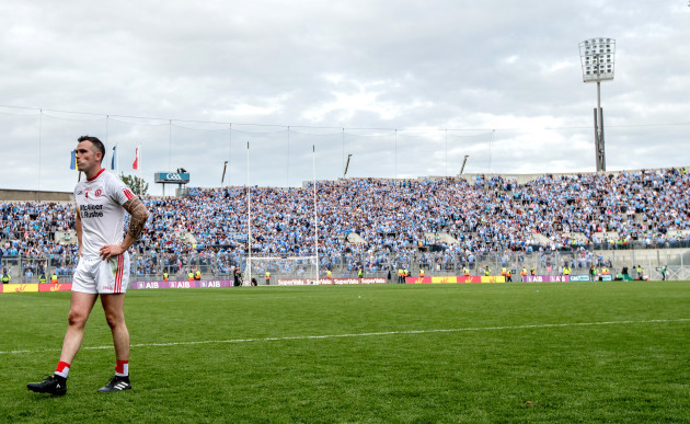 Cathal McCarron dejected after the game