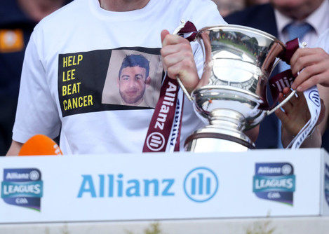 Westmeath players wear t-shirts in support of Lee Wallace