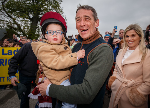 Davy Russell with his son Finn