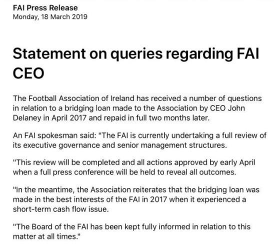 fai press release 2