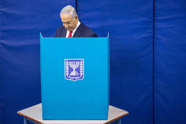 MIDEAST-JERUSALEM-ELECTION-ISRAELI PM-VOTE