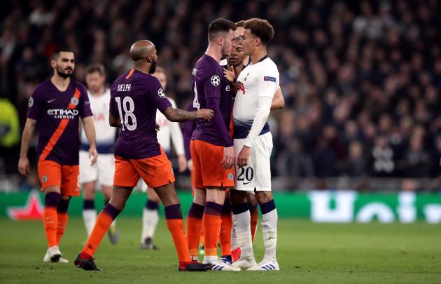 As It Happened Tottenham V Manchester City Champions League Quarter finals