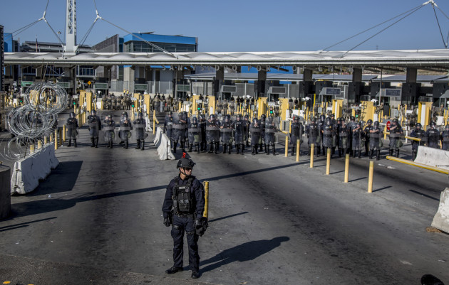 US Customs and Border Protection practise closing the borders