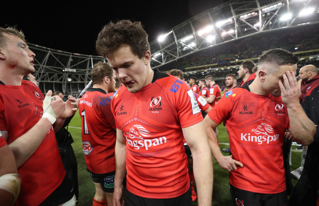Jacob Stockdale dejected after the game