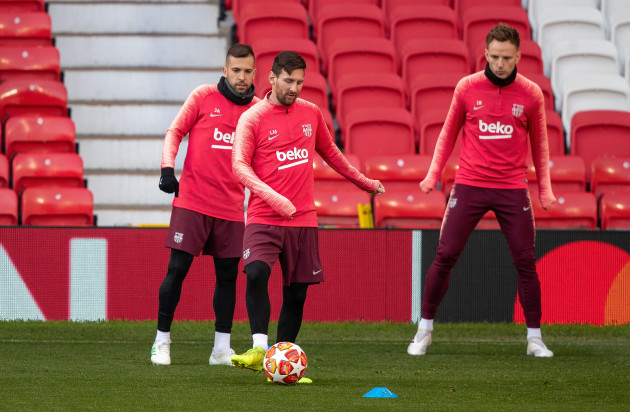 Barcelona Training and Press Conference - Old Trafford