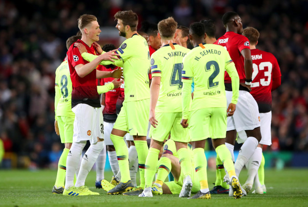 Manchester United v Barcelona - UEFA Champions League - Quarter Final - First Leg - Old Trafford