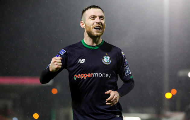 Jack Byrne celebrates after the game