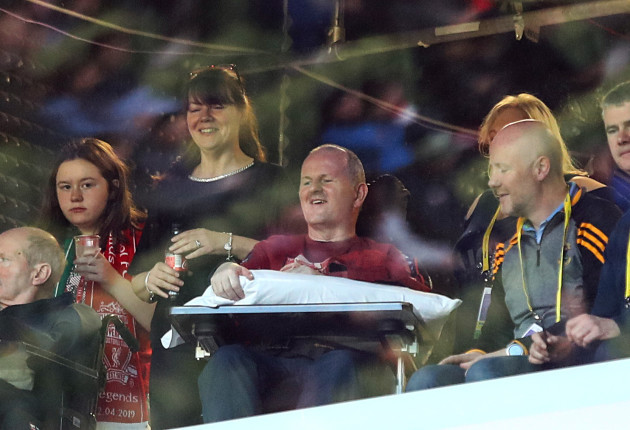 Sean Cox before the game