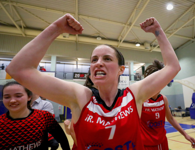 Niamh Dwyer celebrates after the match