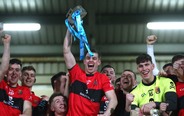 Cian Kiely lifts the Sigerson Cup