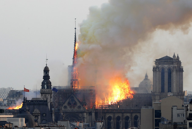 38c4a526 Notre Dame main structure 'saved' after blaze engulfs Paris cathedral