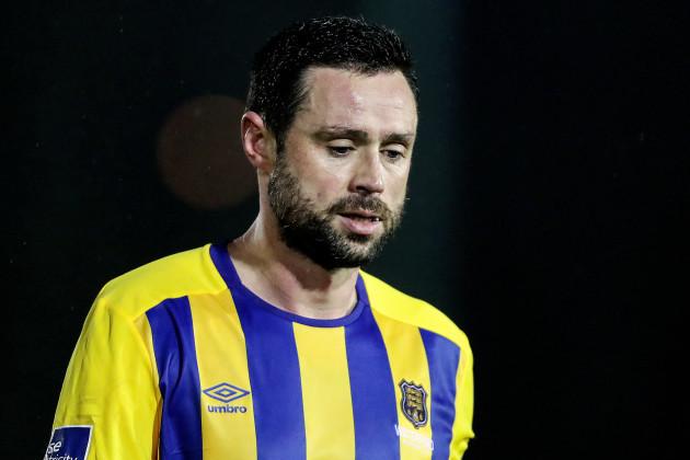 Damien Delaney dejected after the game