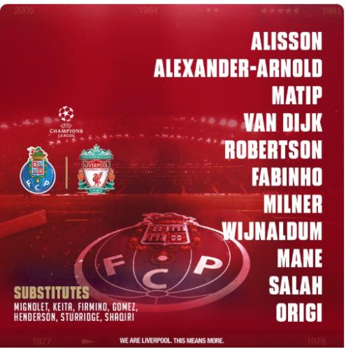 318ed031b52ec1 As it happened  Porto v Liverpool