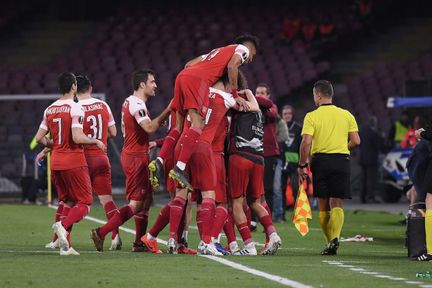Napoli vs Arsenal - UEFA Europa League, ritorno quarti di finale