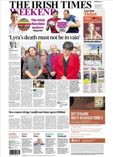 Irish Times front