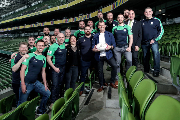 Nigel Owens with the Emerald Warriors RFC