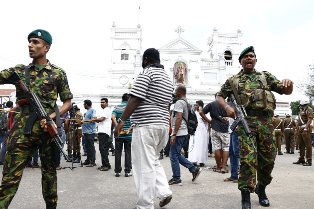 (SPOT NEWS)SRI LANKA-COLOMBO-BLASTS