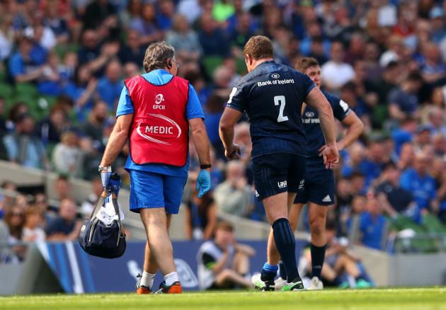 Seán Cronin leaves the field injured