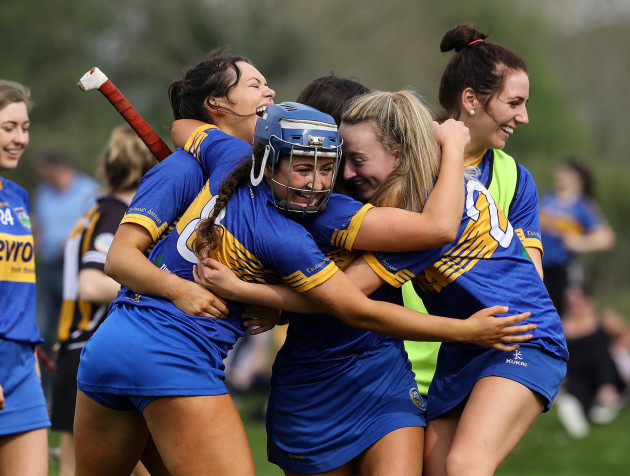 Tipperary players celebrate at the final whistle