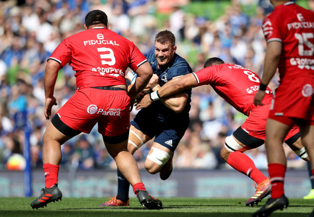 Sean O'Brien with Charlie Faumuina and Jerome Kaino