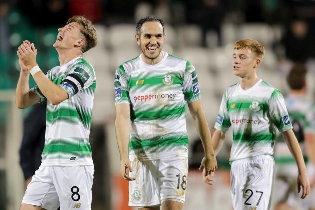 Ronan Finn and Joey O'Brien celebrate winning