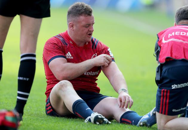 Dave Kilcoyne receives treatment