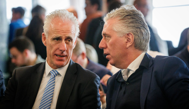 Mick McCarthy with John Delaney