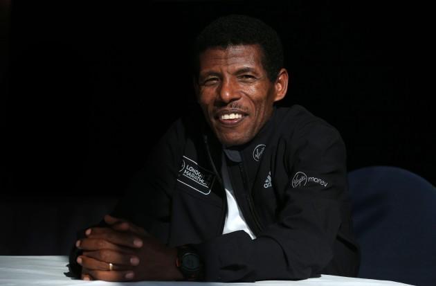 Athletics - Virgin London Marathon 2014 - Haile Gebrselassie Press Conference - Tower Bridge