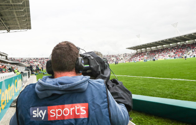 A view of Sky Sports covering the GAA