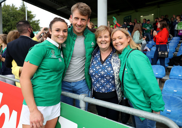 Louise Galvin with her family after the game