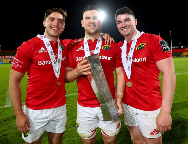 Greg O'Shea, Conor Oliver and Sam Arnold celebrate