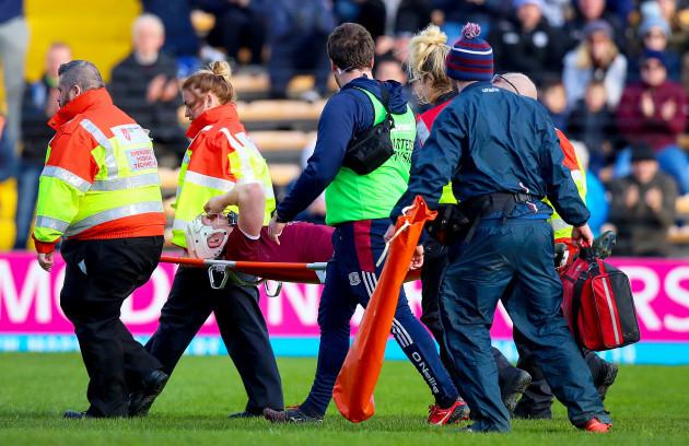 Joe Canning goes off injured