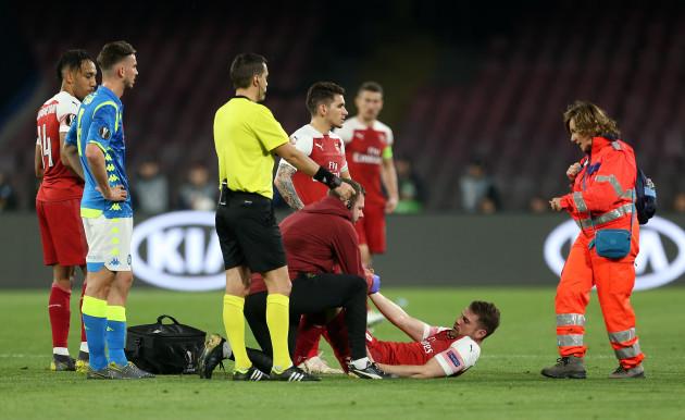 Napoli v Arsenal - UEFA Europa League - Quarter Final - Second Leg - San Paolo Stadium