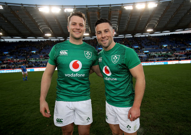 Jack Carty and John Cooney after the game