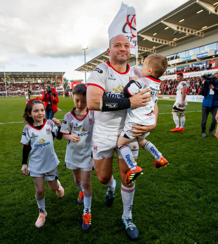 Rory Best after the game with his children