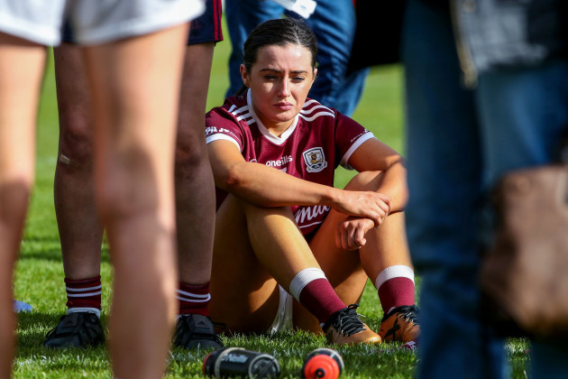 Charlotte Cooney dejected at the end of the game