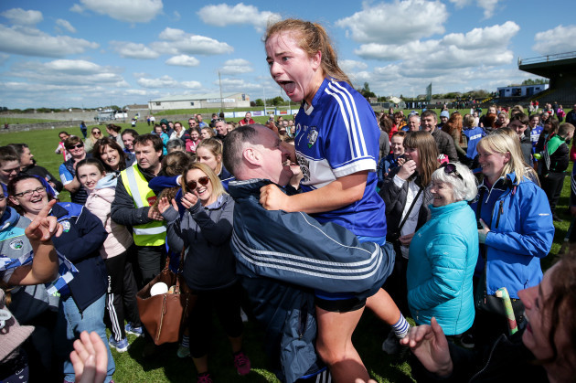Alice Walshe celebrates with Timmy Fahy