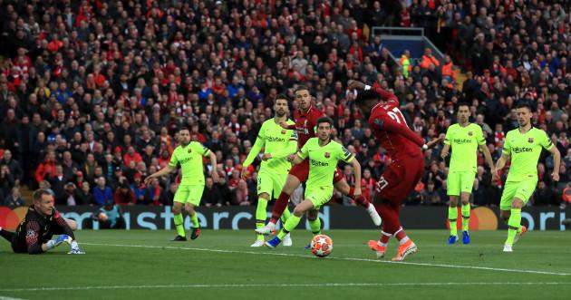 14f0a0df96e Liverpool v Barcelona - UEFA Champions League - Semi Final - Second Leg -  Anfield