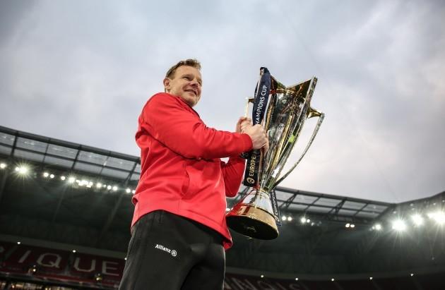 Mark McCall celebrates