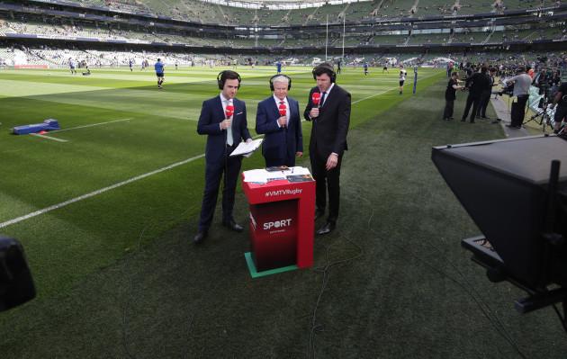 Virgin Media TV Television with Joe Molloy Matt Williams and Shane Horgan
