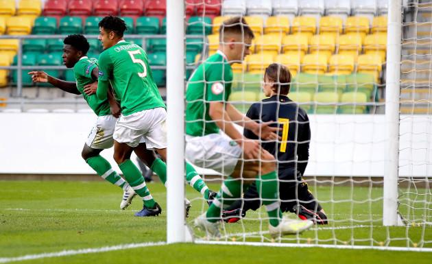 Timi Sobowale celebrates scoring