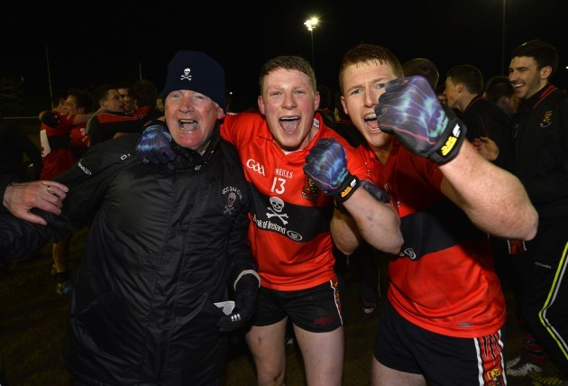 Conor Cox and David Culhane celebrate winning