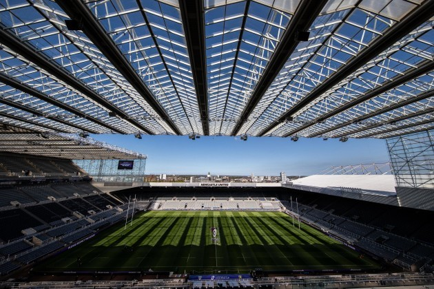 A view of St. James' Park ahead of the game