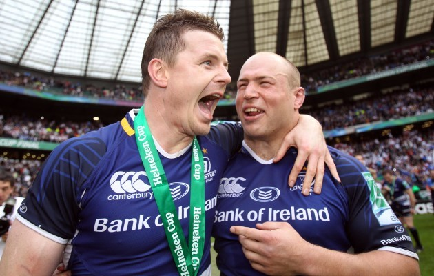 Brian O'Driscoll and Richardt Strauss celebrate