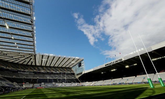 A general view of St James' Park ahead of the game