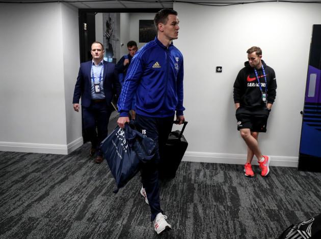 Johnny Sexton arrives