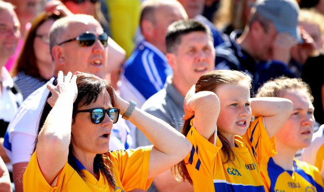 Clare fans react late on in the game